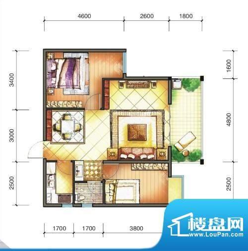东方明珠城市花园三面积:0.00m平米