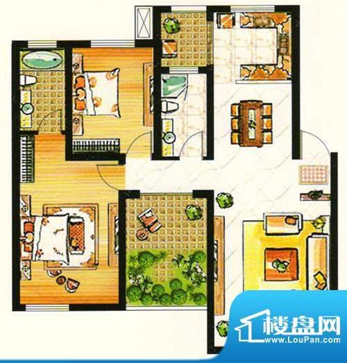 台北城上城C3-6户型面积:0.00m平米