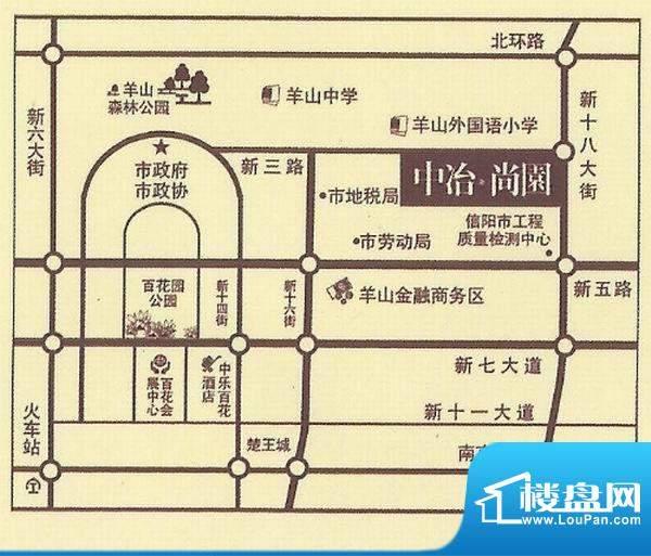中冶·尚园交通图