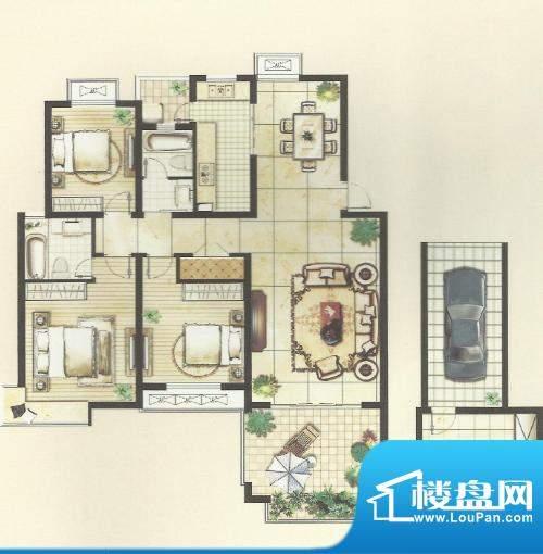 中冶·尚园户型图2 面积:143.00m平米