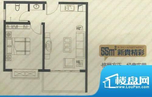 苏荷公寓 户型图3面积:0.00m平米