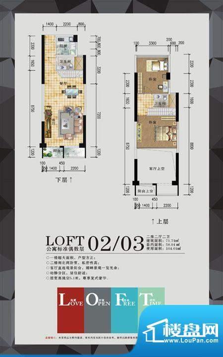 名扬·汇峰公寓户型面积:0.00m平米