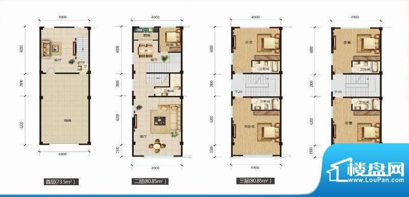 北惯新城A11栋01号房面积:335.65m平米