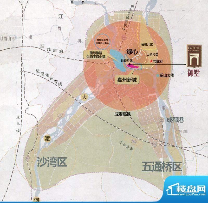 嘉州新城·御墅交通图