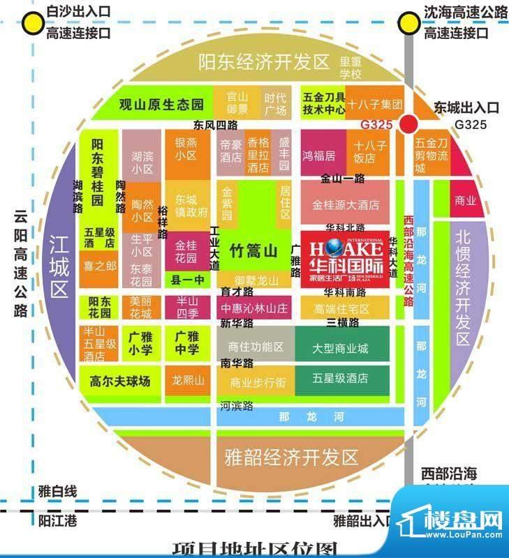 华科国际家居生活广场交通图
