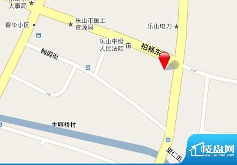 嘉州国际商业中心交通图