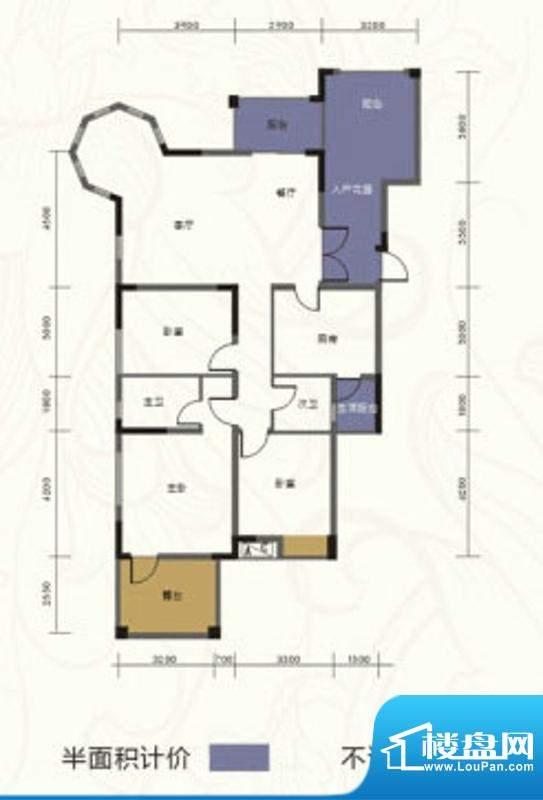 乐居·阅湖郡E1型 3面积:133.74m平米