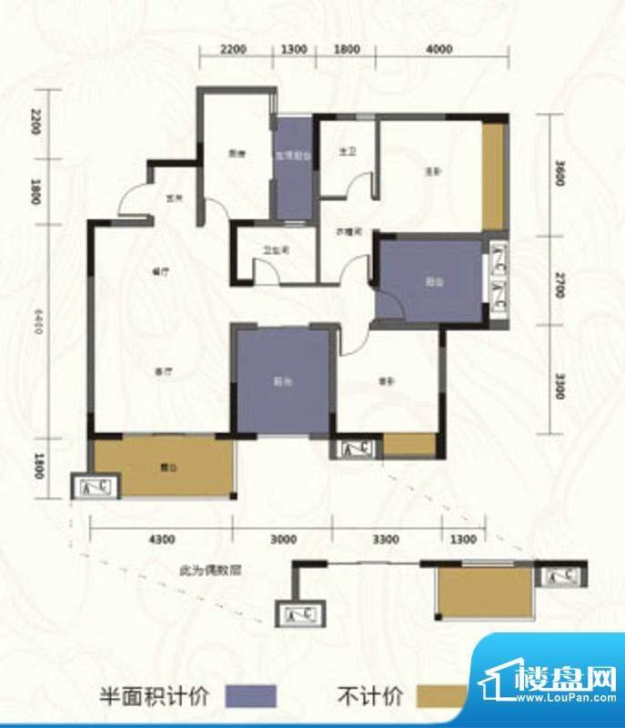 乐居·阅湖郡A3-1型面积:112.24m平米
