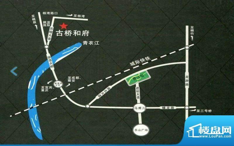昱盎·古桥和府交通图