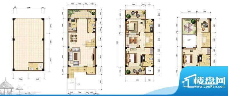 沙巴岛别墅304.00面积:304.00m平米