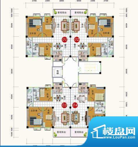 龙头山雅苑户型平面面积:0.00m平米