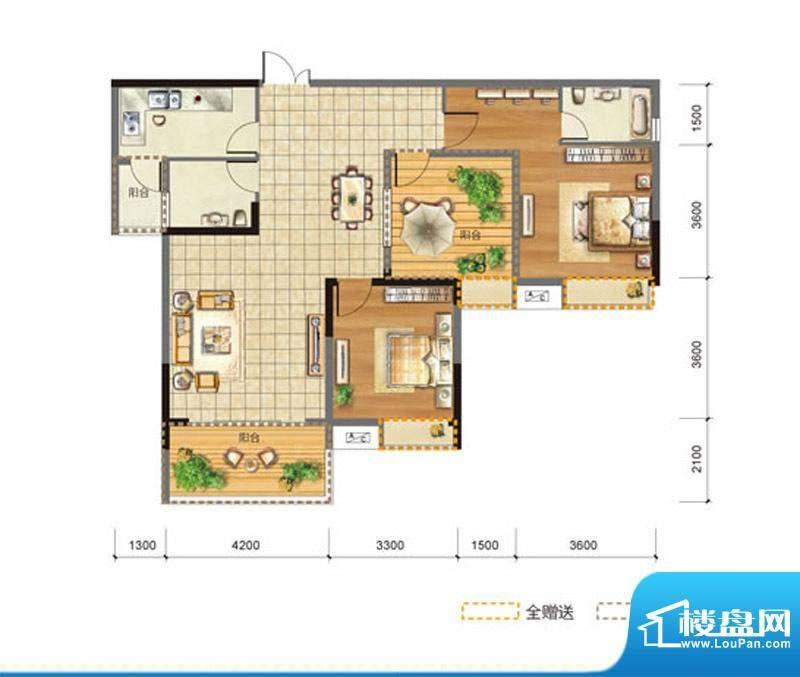 玉龙居D-D1型 2室2厅面积:115.80m平米