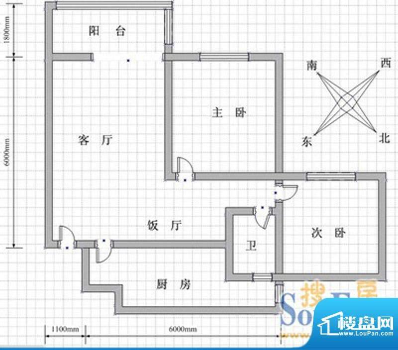 峨眉天颐套二 2室1厅面积:80.00m平米