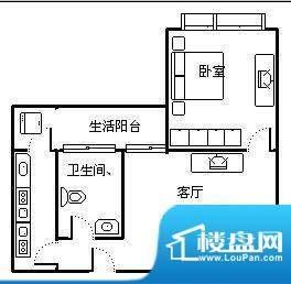 峨眉天颐户型图 1室面积:0.00m平米