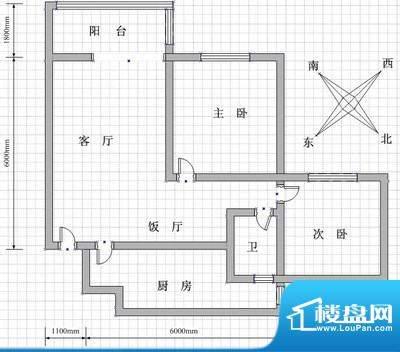 峨眉天颐 1室 户型图面积:51.00m平米