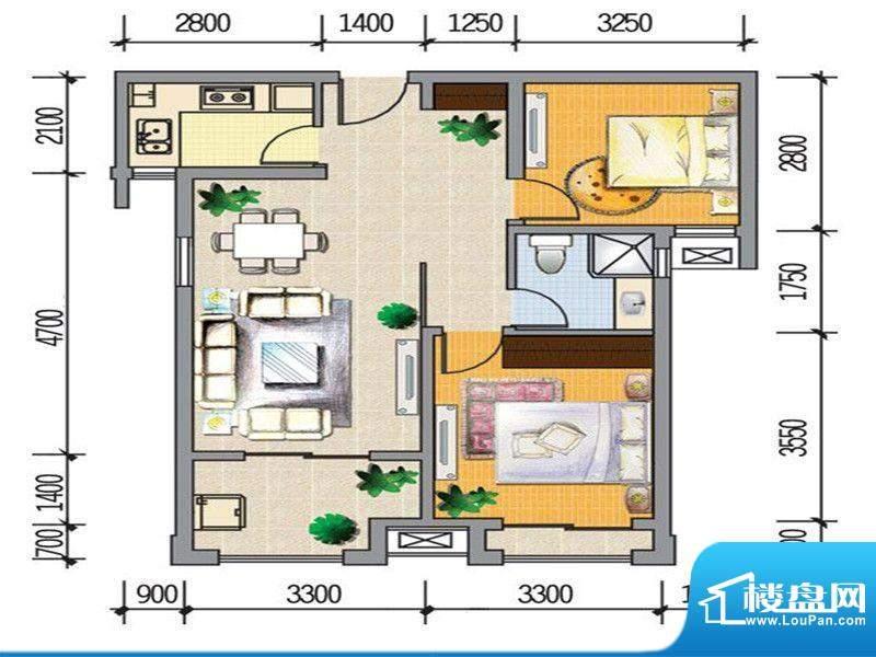 龙桥新园二期7、9号面积:79.00m平米
