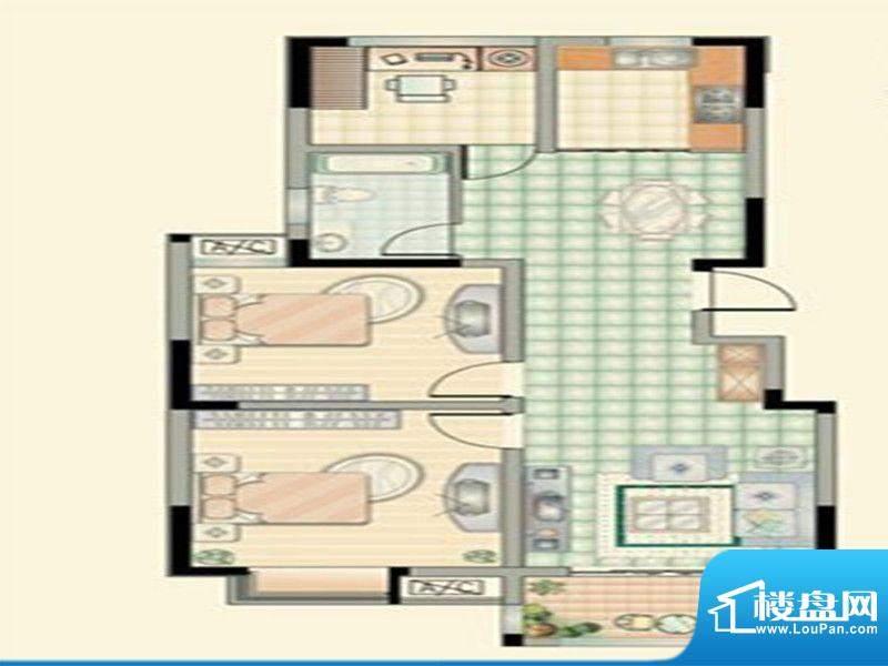 华府景城二期9号楼标面积:100.00m平米