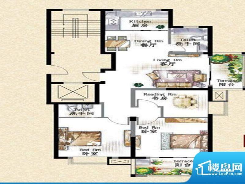 华府景城11号楼标准面积:115.00m平米