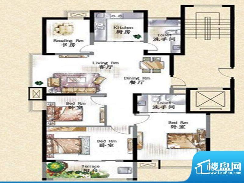 华府景城11号楼标准面积:129.00m平米