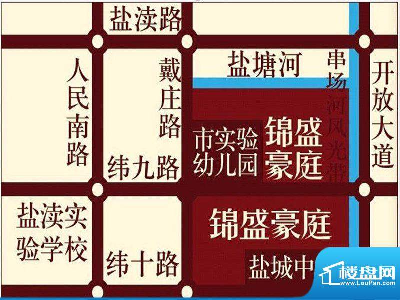 锦盛豪庭交通图