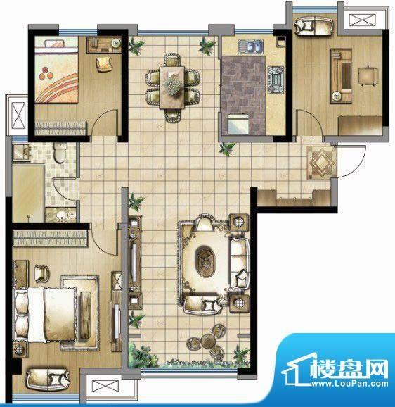 锦盛豪庭一期10号楼面积:125.00m平米
