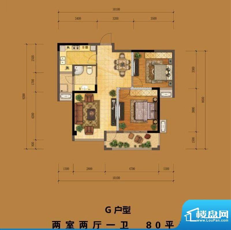 港龙华侨城一期3、8面积:80.00m平米