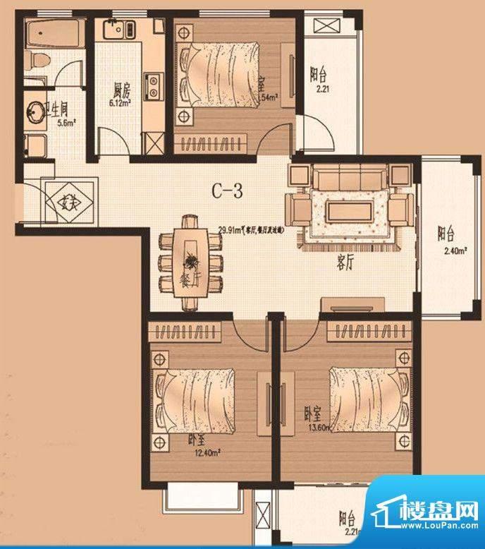 御景湾第一期第三栋面积:0.00m平米