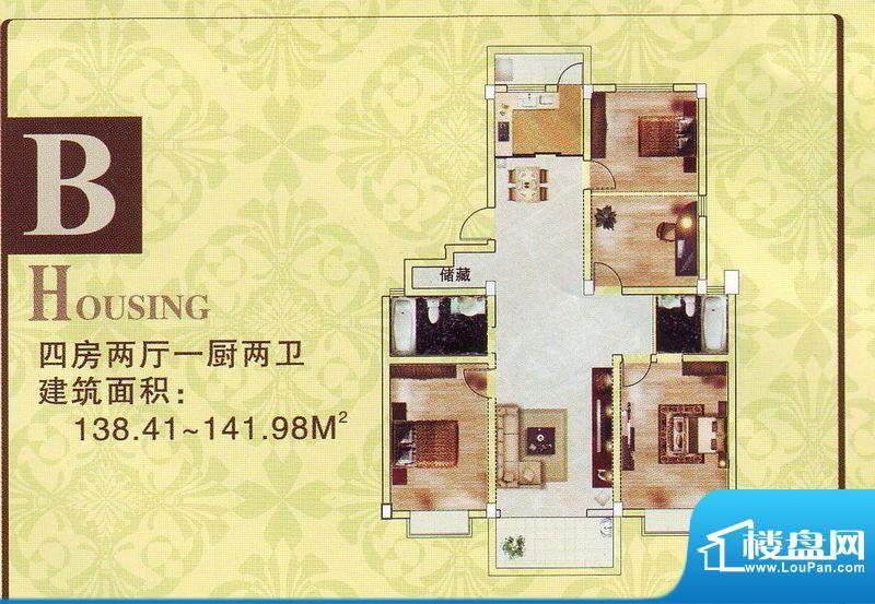 华城新村二期10号楼面积:140.00m平米
