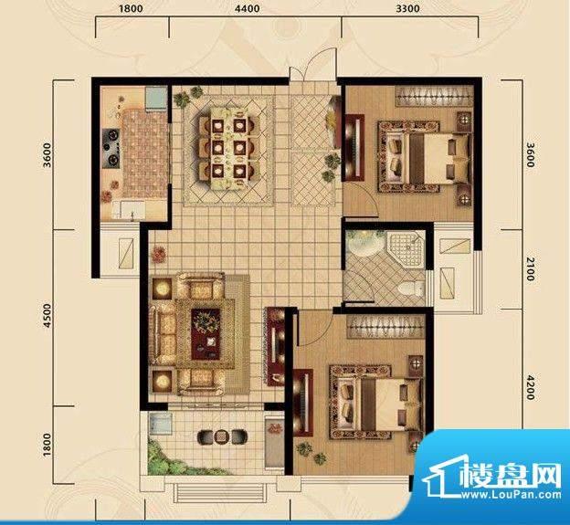 濠璟·半岛一期三栋面积:90.00m平米