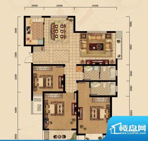 濠璟·半岛一期八栋面积:134.00m平米
