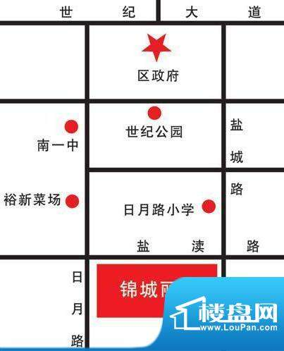 锦城丽景交通图