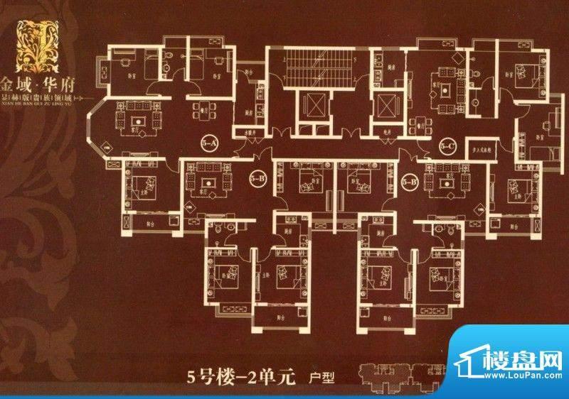 金域华府5号楼2单元面积:100.00m平米