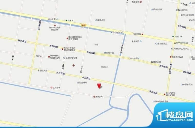 丽景福苑交通图