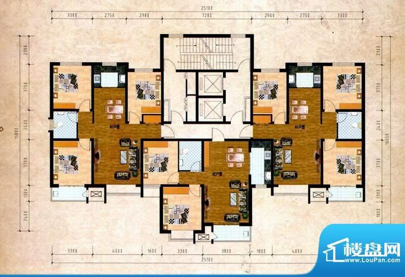 丽景福苑A户型 3室2面积:112.91m平米