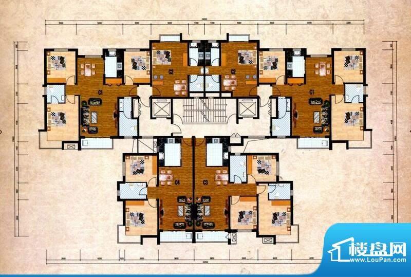 丽景福苑C户型 3室2面积:126.80m平米