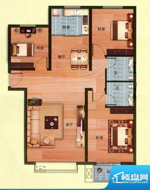 花香维也纳4号楼I户面积:120.00m平米