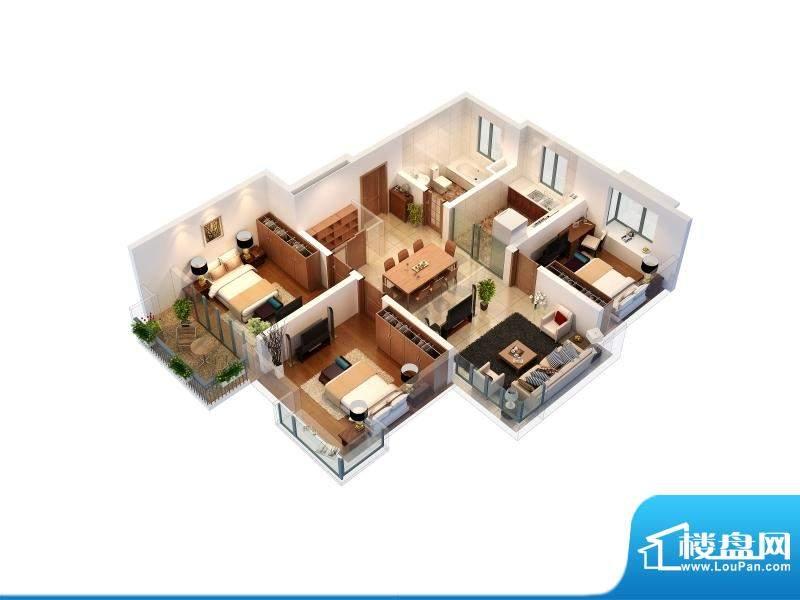 金榜世家8#A户型 3室面积:110.00平米