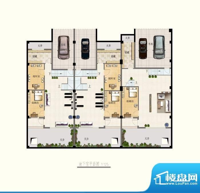 博海尚城地下室平面面积:0.00平米