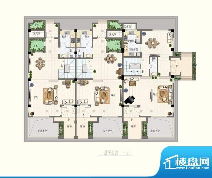 博海尚城一层平面图面积:0.00平米