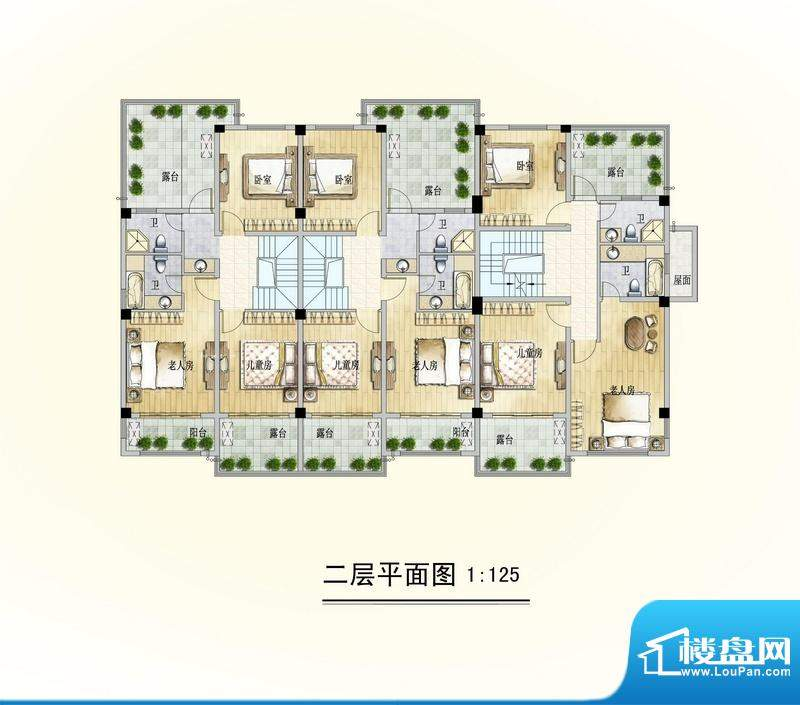博海尚城二层平面图面积:0.00平米