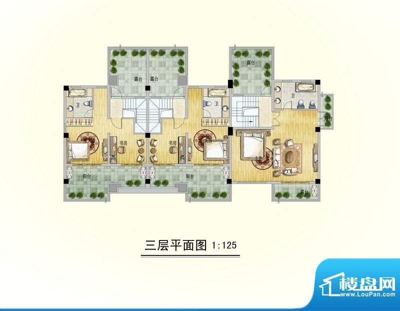 博海尚城三层平面图面积:0.00平米