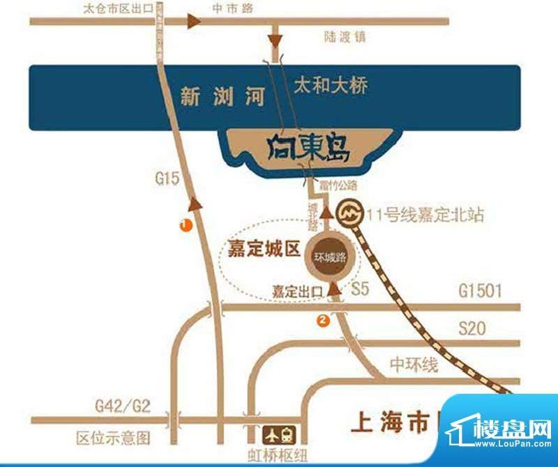 向东岛交通图