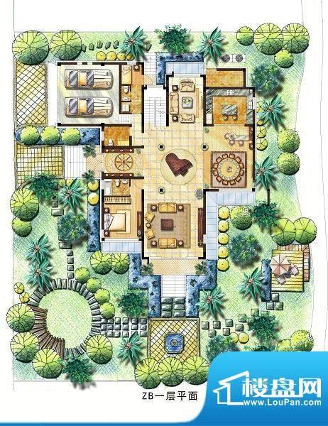 向东岛中别墅ZB户型面积:700.00平米