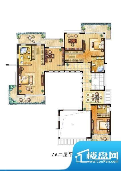 向东岛中别墅ZA户型面积:700.00平米