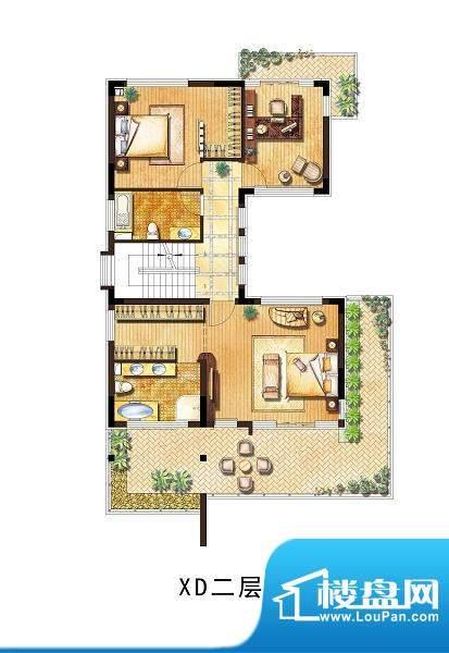 向东岛小别墅XD户型面积:400.00平米