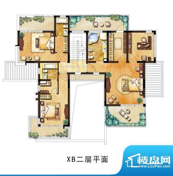 向东岛小别墅XB户型面积:400.00平米