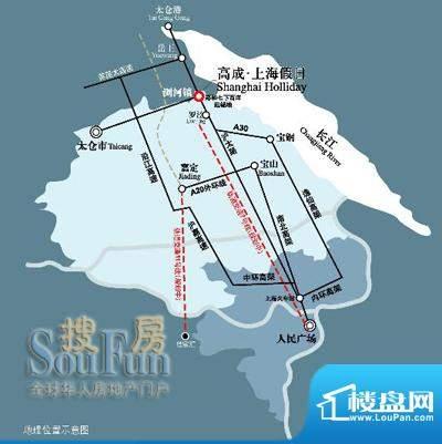 高成上海假日交通图