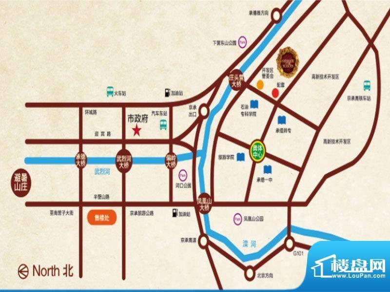 阳光四季城交通图