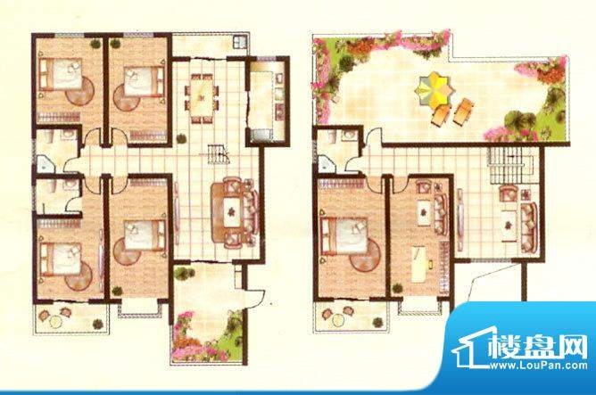 紫台一品二期六房三面积:278.48m平米