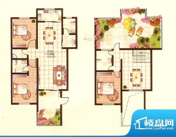 紫台一品二期三房三面积:184.64m平米